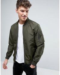 Produkt Bomber Jacket With Ma-1 Pocket - Green