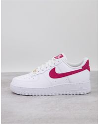 Nike Air Force 1 '07 - Baskets - et rouge noble - Blanc