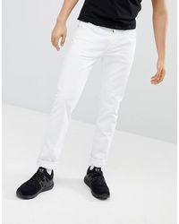 Emporio Armani Белые Узкие Джинсы J06 - Белый