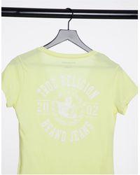 True Religion Camiseta amarilla con escote - Amarillo