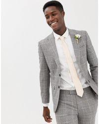 Moss Bros - Moss London Premium Skinny Suit Jacket In 100% Italian Wool Check - Lyst