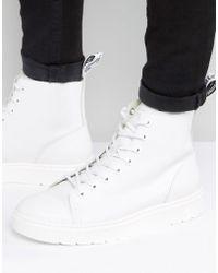 Dr. Martens Talib 8 Eye Boots - White