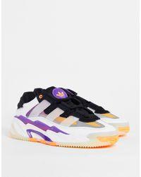 adidas Originals Кроссовки Белого/фиолетового Цвета Niteball-белый