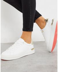 River Island Chunky Trainer With Gold - White