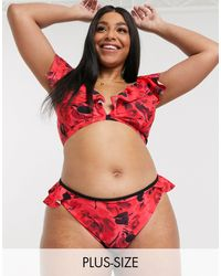 Simply Be Bikini Bottom - Red