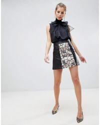 Traffic People - Sequin Panelled Mini Skirt - Lyst
