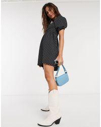 TOPSHOP Baby Doll Mini Dress - Black