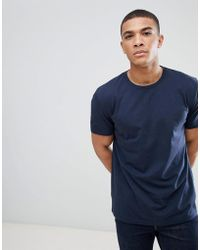 ASOS - Relaxed Fit T-shirt In Navy - Lyst