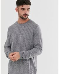 Only & Sons Cable Knit Jumper - Gray