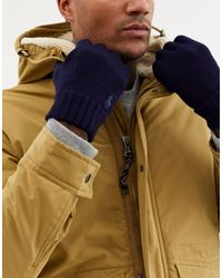 Polo Ralph Lauren Gants en laine avec logo joueur - Bleu