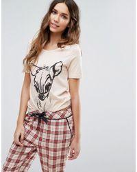 Vero Moda Bambi Pj Top - Pink