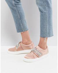 ASOS - Darla Embellished Sneakers - Lyst