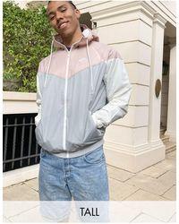 Nike Ветровка Светло-серого/светло-бежевого Цвета Tall Heritage Essentials-серый