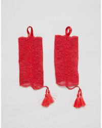 ASOS - Asos Delicate Lace Cuff Tassle Details - Lyst