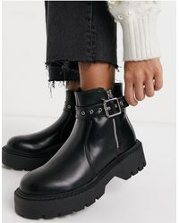 Glamorous Chunky Ankle Boots - Black