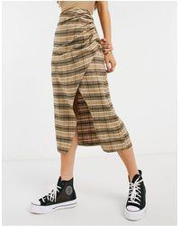 ASOS Wrap Midi Skirt - Multicolour