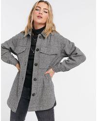 Pimkie Рубашка Навыпуск С Принтом «гусиная Лапка» -многоцветный - Серый