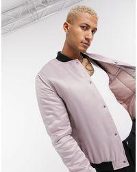 ASOS Padded Bomber Jacket - Pink