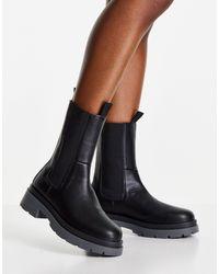 TOPSHOP Черные Массивные Ботинки Челси Kylie-черный Цвет