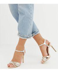 New Look Strappy Sandal In Metallic - Multicolour