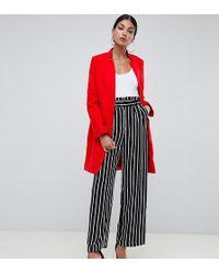 Missguided Красное Пальто В Деловом Стиле - Красный