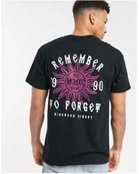 New Look Remember Front And Back Print Oversized T-shirt - Black
