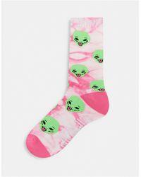 RIPNDIP Ripndip We Out Here Socks - Pink