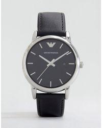 Emporio Armani - Ar1692 Leather Strap Watch - Lyst