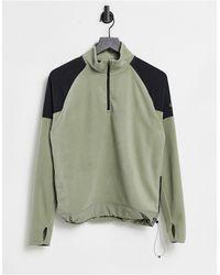 Nike Свитшот Цвета Хаки Под Куртку С Воротником На Молнии Air-зеленый Цвет