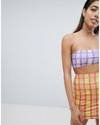 Jaded London - Diamante Check Bandeau Co-ord - Lyst
