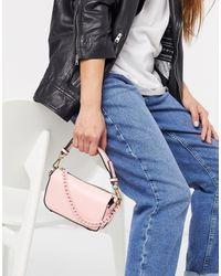 TOPSHOP Boxy Chain Mini Bag - Pink