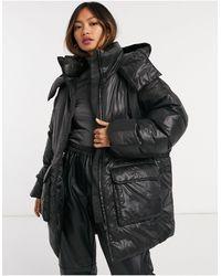 Weekday Martine Eco Padded Drawstring Jacket - Black