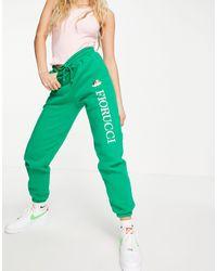 Fiorucci Joggers da corsa con logo e angeli, colore verde