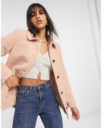 Vero Moda Teddy Borg Jacket - Pink