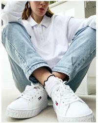 Tommy Hilfiger Sneakers Met Cupzool - Wit
