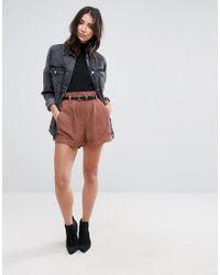 SELECTED - Monna Bucket Waist Shorts - Lyst