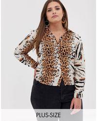 AX Paris Рубашка С Леопардовым Принтом Ax Paris-мульти - Коричневый