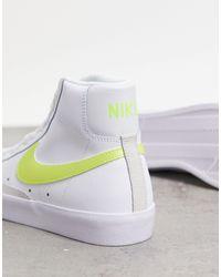 Nike - Кроссовки Белого И Желтого Цветов Blazer Mid '77-белый - Lyst