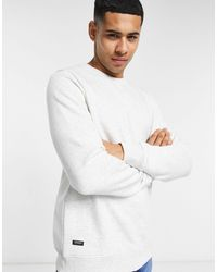 Threadbare - Sweat-shirt basique d'ensemble - Écru chiné - Lyst