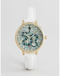 ASOS - Design Embroidered Baroque Snake Watch - Lyst