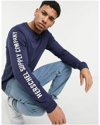 Herschel Supply Co. Arm Print Long Sleeve T-shirt - Blue