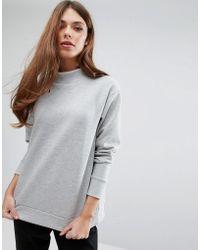 Pieces - Hilde Turtleneck Sweatshirt - Lyst