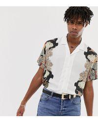Heart & Dagger - Hemd mit Reverskragen und japanischem Muster in Weiß - Lyst