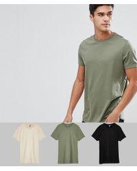 ASOS DESIGN - Crew Neck T-shirt 3 Pack Save - Lyst