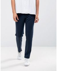 SELECTED | Tapered Cropped Jersey Pants | Lyst