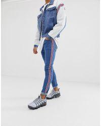 Liquor N Poker - Skinny Jeans With Sports Stripes - Lyst