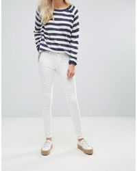 Blend She - Bright Whitney White Skinny Jeans - Lyst