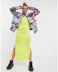 Jaded London Oversized Quilted Jacket - Multicolor