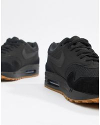 quality design 52364 9037f Nike - Air Max 1 Trainers In Black Ah8145-007 - Lyst