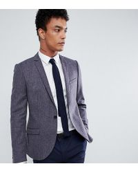 Heart & Dagger - Woven In England Skinny Blazer With Lux Trim - Lyst